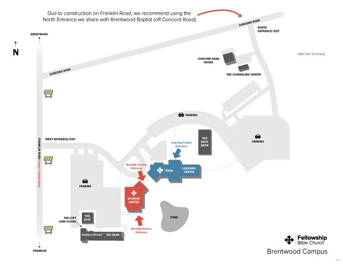 Fellowship Brentwood Campus Map